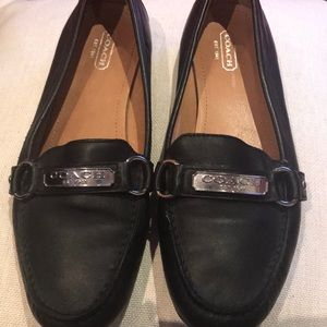 Black Coach Loafers flats size 9 Excellent
